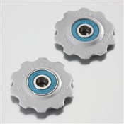 Product image for Tacx Jockey Wheels Ceramic Bearings fits 7/8spd Shimano - 8/9/10spd Campag
