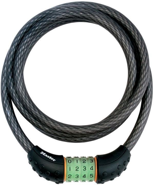 Master Lock Quantum Combi Phosphorescent Combination Cable Lock   Combo Lock