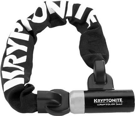 Kryptonite Kryptolok Series 2 955 Integrated Chain Lock - Silver Sold Secure