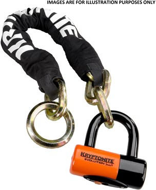 Kryptonite New York Noose 130cm Chain Lock With EV Series 4 Disc Lock - Gold Sold Secure