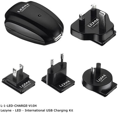 Lezyne International USB Wall Charger Kit
