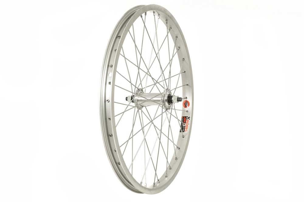 DiamondBack Silver 3/8 inch Nutted With ALEX J303 36H Rim Front BMX Wheel | Hjulsæt