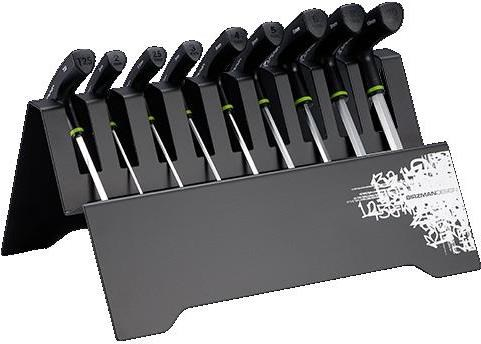 Birzman T Bar Hex Key Set with Metal Rack