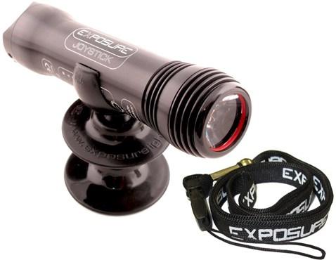Exposure Joystick Mk7 Rechargeable Front Light With Helmet Mount and Lanyard