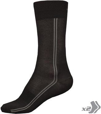 Endura Coolmax Cycling Long Socks - Twinpack AW17