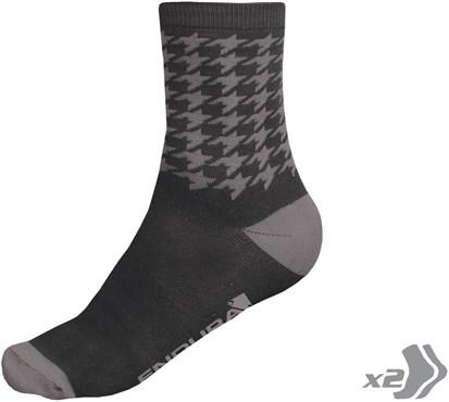 Endura Houndstooth Cycling Socks - Twinpack SS17