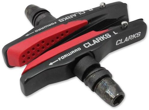 Clarks Elite MTB/Hybrid/V-Brake Pads w/ Alloy Holder & Dual Compound Aqua-Glide Insert Pads