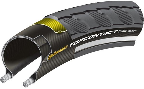 Continental Top Contact II Reflective 700c Hybrid Folding Tyre