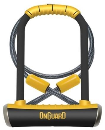 OnGuard Pitbull DT Shackle U-Lock Plus Cable - Gold Sold Secure | Combo Lock