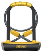 Product image for OnGuard Pitbull DT Shackle U-Lock Plus Cable - Gold Sold Secure