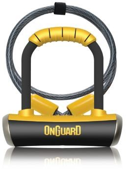 OnGuard Pitbull Mini DT Shackle Lock with Cable | Combo Lock
