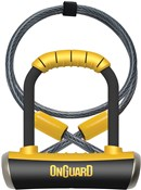 Product image for OnGuard Pitbull Mini DT Shackle Lock with Cable