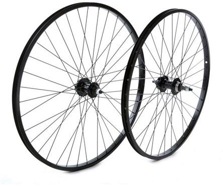 """Tru-Build 26"""" MTB Rear Disc Wheel Alloy Rim 6 Bolt Disc Hub Freewheel Fitting and Nutted Axle"""