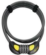 OnGuard Doberman Combo Coil Lock With Illuminated Tumblers