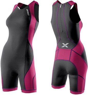 2XU Womens Comp Tri Suit with Rear Zip