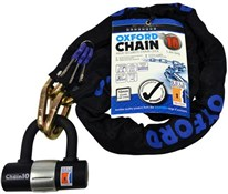 Oxford Chain10 Sold Secure Pedal Cycle Gold Chain Lock With Padlock