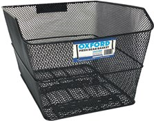 Product image for Oxford Mesh Rear Pannier Rack Basket With Fittings