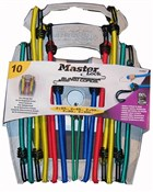 Master Lock 10 Piece Bungee Organiser With Reverse Hooks