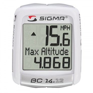 Sigma BC 14.12 Altitude 15 Function Cycle Computer