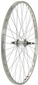"Tru-Build 26"" MTB Rear Wheel Steel Hub Silver Screw-On"