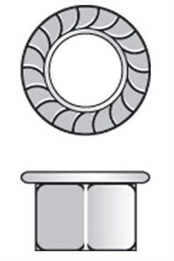 Raleigh 14mm Wheel Axle Nut