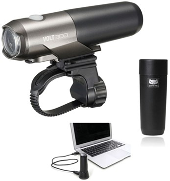 Cateye Volt 300 Kit Inc Batt + Doc Rechargeable USB Front Light