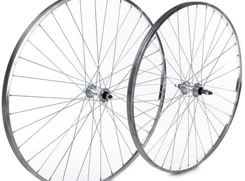 "Tru-Build 26""  MTB Rear Wheel Single Wall - City Use Screw-On Alloy Nutted Hub"