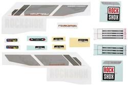 "Product image for RockShox Decal Kit Revelation 26"" Silver/Black Lower Leg A3"