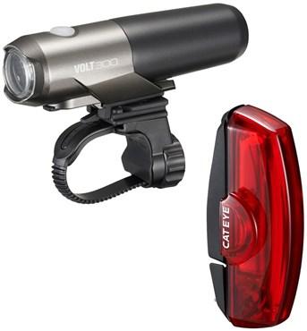 Cateye Volt 300 / Rapid X USB Rechargeable Light Set