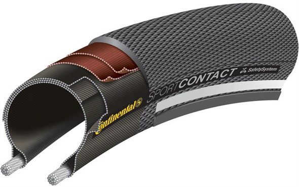 Continental Sport Contact II 700c Hybrid Tyre