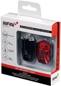 Infini Lava Twin Pack Micro Front and Rear USB Rechargeable Light Set