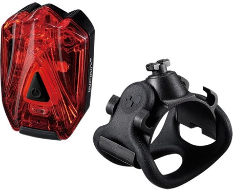 Infini Lava Super Bright Micro USB Rechargeable Rear Light With QR Bracket | Baglygter