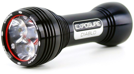 Exposure Diablo Mk6 Rechargeable Front Light with Helmet and Handleb Mounts