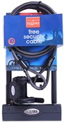 Squire Challenger D Lock and 8c Cable Value Pack -  Sold Secure Bronze
