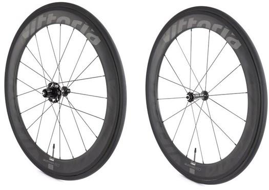 Vittoria Qurano 60 Full Carbon Tubular SRAM/Shimano NoTool Freewheel Quick Release Wheelset