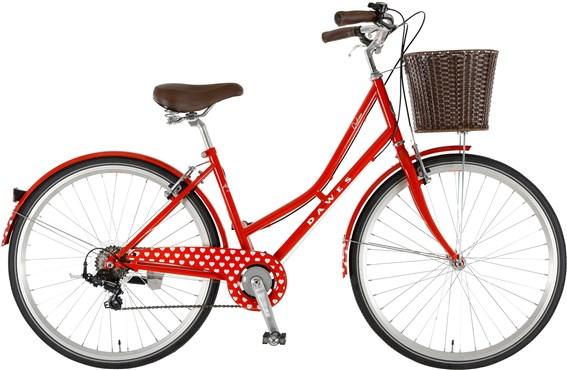 Dawes Duchess Red Hearts Womens 2016 - Hybrid Classic Bike