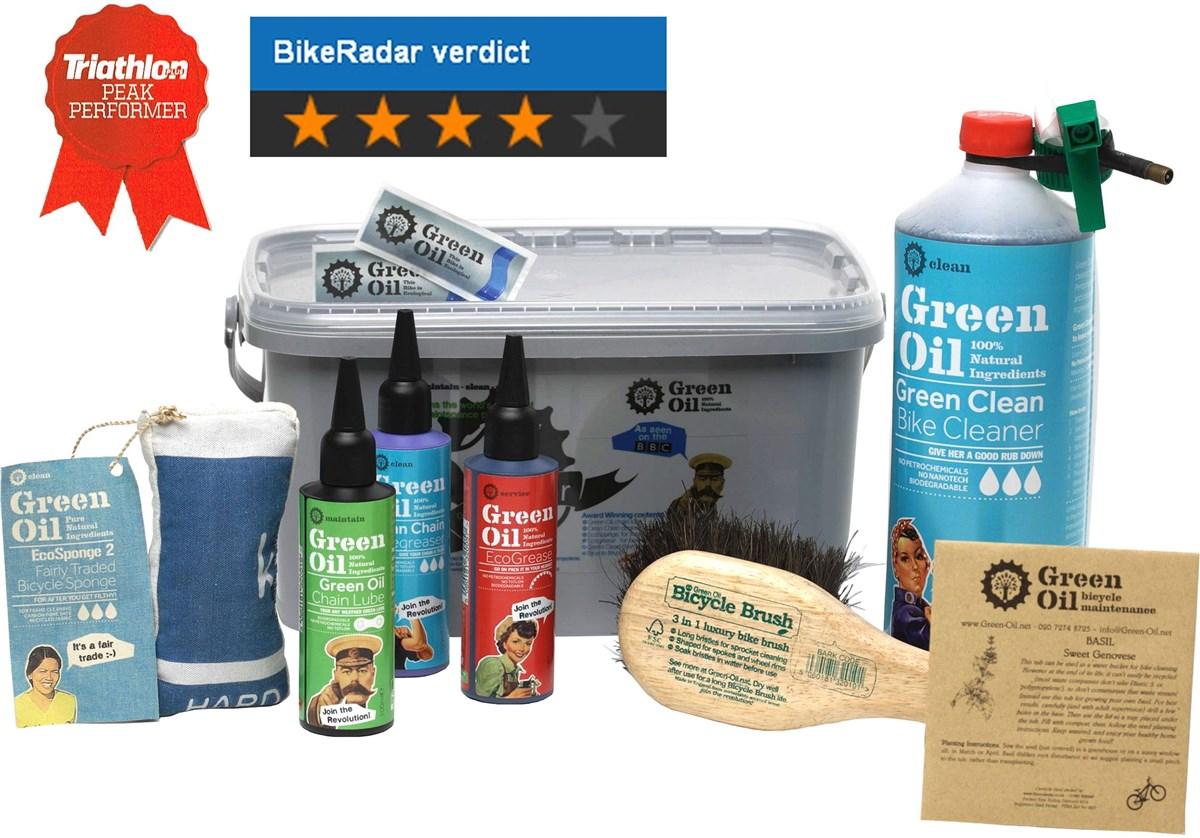 Green Oil Eco Rider Deluxe Cleaning Set | Rengøring og smøremidler