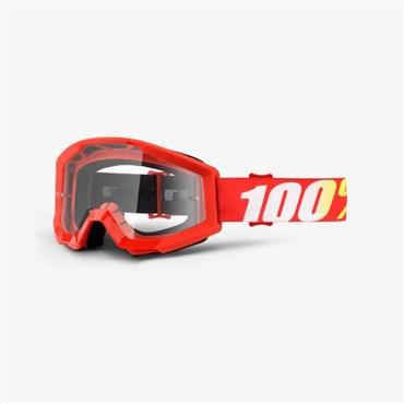 100% Strata Anti Fog Clear Lens MTB Goggles