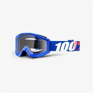 100% Strata Youth Anti-Fog Clear Lens MTB Goggles