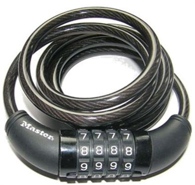 Master Lock Digit Resettable Combination Coiled Steel Cable Lock