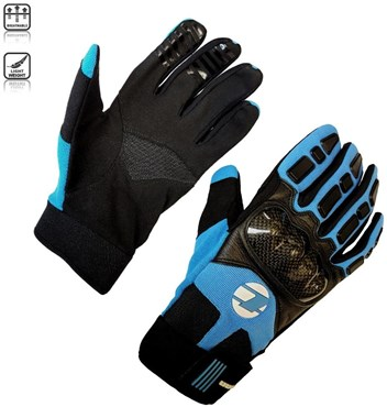 Tenn Leather and Carbon MTB Knuckle Long Finger Cycling Gloves | Handsker