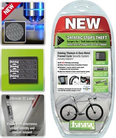 Datatag Titanium/Bare Metal Security Identification System for Bicycles   Theft Protection