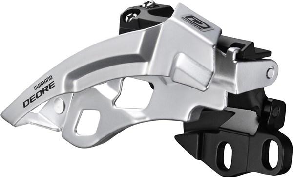 Shimano FD-M611 Deore 10-Speed Triple Front Derailleur - Dual-Pull - Direct-Fit - black