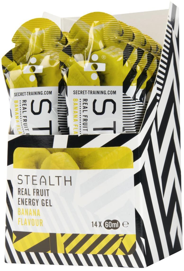 Secret Training Stealth Energy Gel with Real Fruit - 60ml x Box of 14 | Energy gels