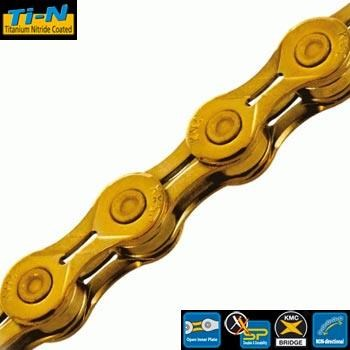KMC X10-EL Ti-N Gold 114L 10Speed Chain