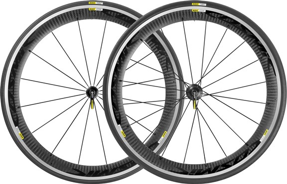 Mavic Cosmic Pro Carbone Road Clincher Wheels - Black Decal 2016