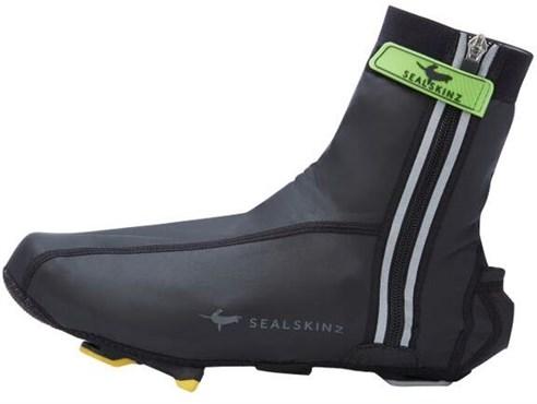 Image of SealSkinz Lightweight Halo Overshoe - Size: S - Colour: Black
