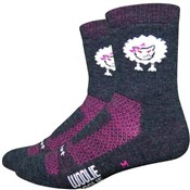 "Defeet Woolie Boolie Baaad Sheep Socks with 4""  Cuff"