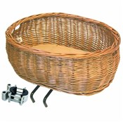 Basil Pluto Wicker Front Dog Basket EDO Bracket Mounting