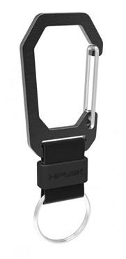 HipLok Aluminium Carabiner Clip with Key Ring